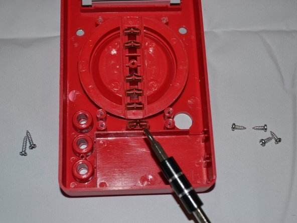 The 'on'/'off' switch is located directly beneath the dial.