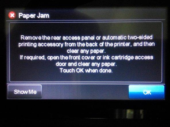Fix False Paper Jam Error.