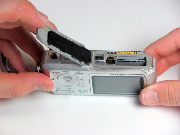 Pentax Optio WP Battery and SD Card Replacement