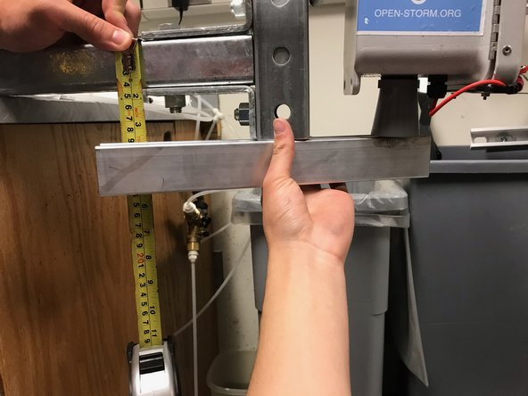 after sliding a new node in and replacing the pin or lock, measure the distance from the bottom of the ultrasonic depth sensor cone to the top of the cantilever beam. you may find a spare piece of strut to help with this.