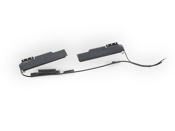 The Wi-Fi antennas are connected to a common ground via conductive tape. Replace the assembly as a single unit to avoid issues caused by improper grounding.