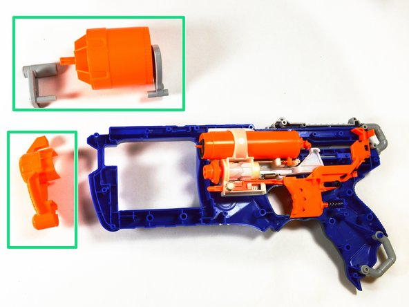 At this time, all components interacting with the barrel are removed.