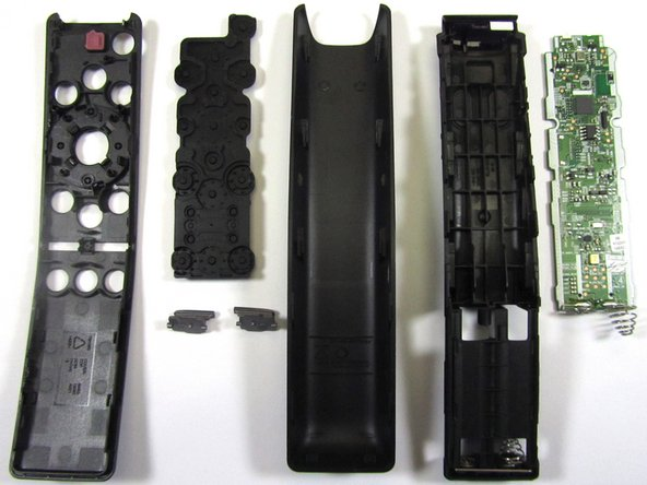 Teardown Exploded Views of the Frontside and Backside of Samsung QLED TV Remote