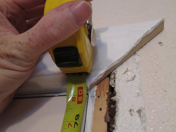 Measure the door frame.