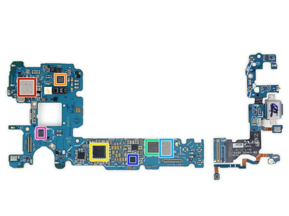 There's another gathering of integrated circuits on the flip side: