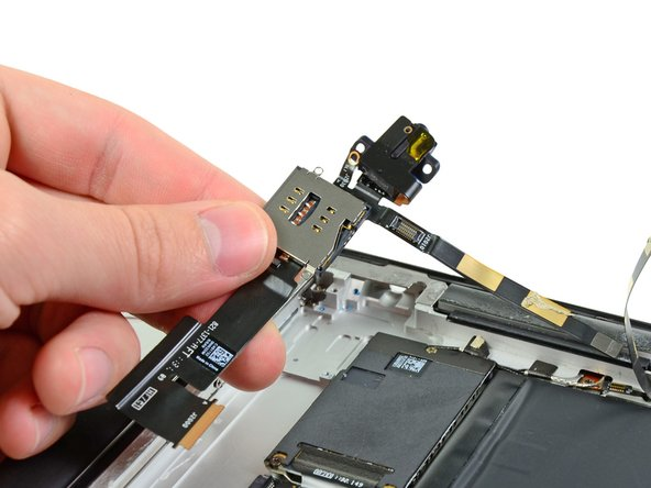 Remplacement de la prise casque et du tiroir de la carte SIM de l'iPad 2 GSM
