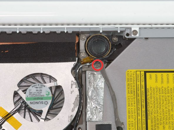 Remove the 2.8 mm Phillips screw securing the optical drive.