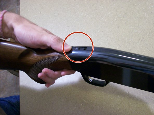 Ensure that the gun's safety is on. This is a slide on the top of the gun. To activate the safety, slide this backwards. The red dot should NOT be visible.