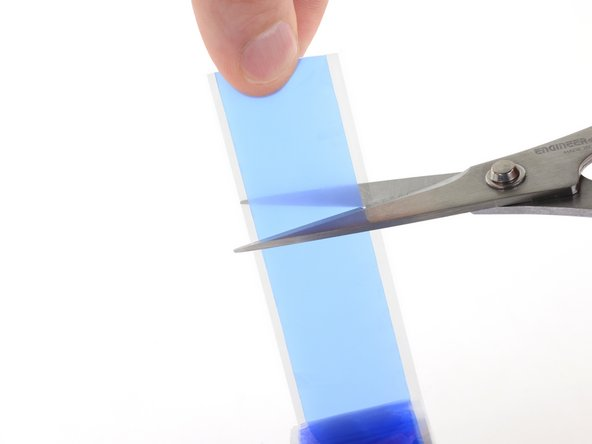 Use scissors to cut off a small strip of silicone electrical tape.