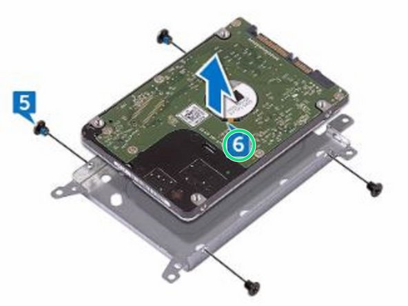 Lift the hard drive off the hard-drive bracket.