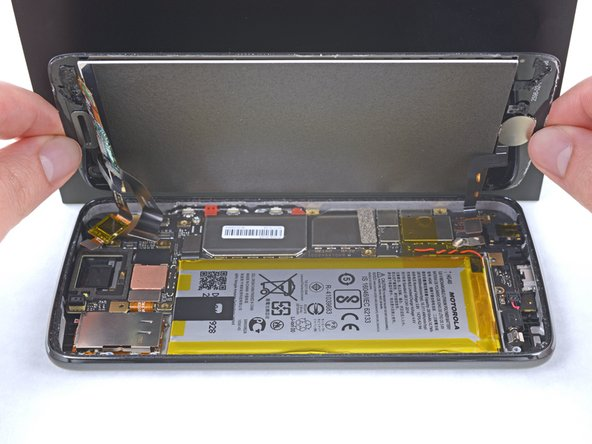 Remove the display assembly from the phone.