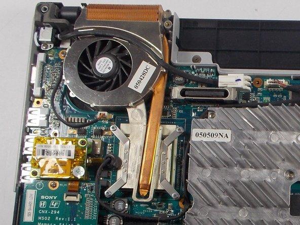 Vaio FS series VGRFS640 Fan Replacement