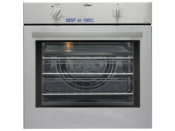 Preheat the oven to 385F (195C).