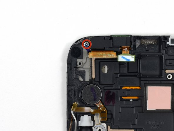 Remove the 3mm Phillips #00 screw from the front-facing camera bracket.