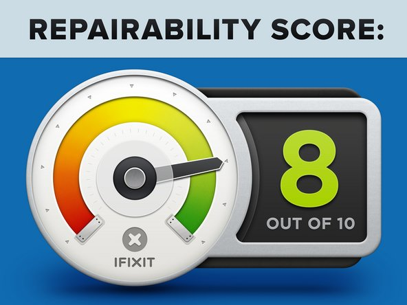 Apple TV 4K Repairability: 8 out of 10 (10 is easiest to repair).