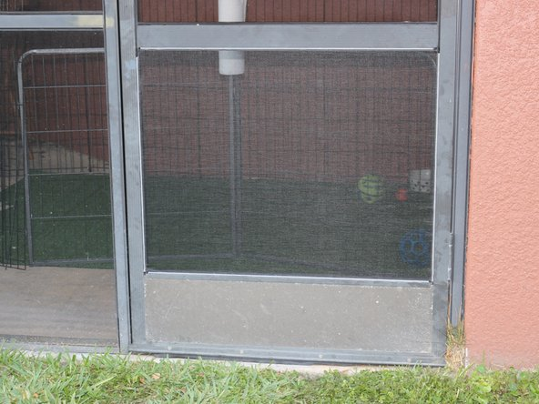 The job is done, and the screen door looks great.