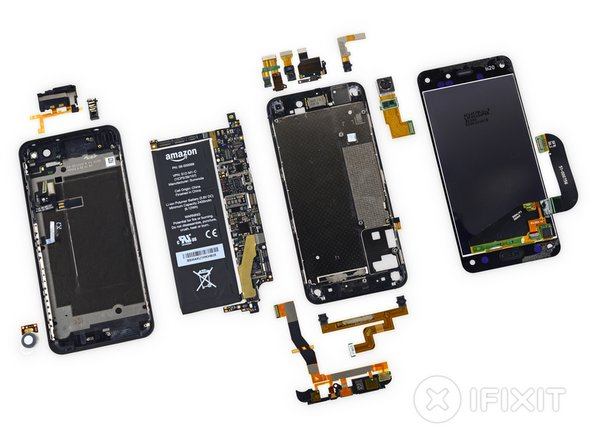 Amazon Fire Phone Repairability: 3 out of 10 (10 is easiest to repair)