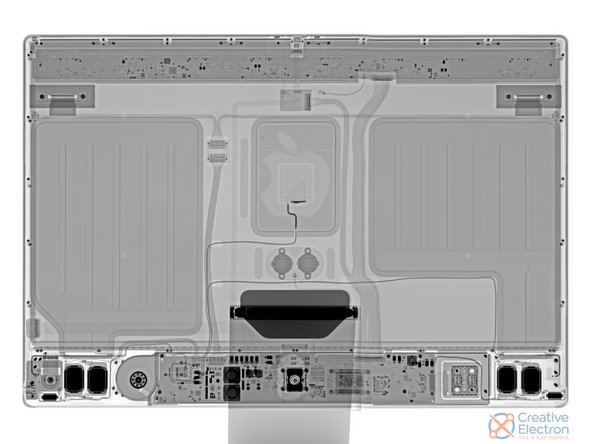 We've been doing iMac teardowns a long time, so we're fairly quick by now—but if you're impatient, nothing beats an X-ray. Check out this beauty from our friends at Creative Electron.