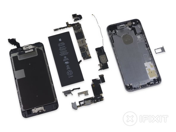 The iPhone 6s Plus inherits a 7 out of 10 on the Repairability scale: