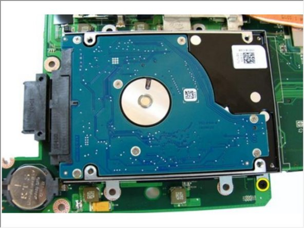 Remove the screws that secures the hard drive bracket