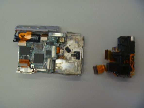 The CCD module is now removed from the camera.