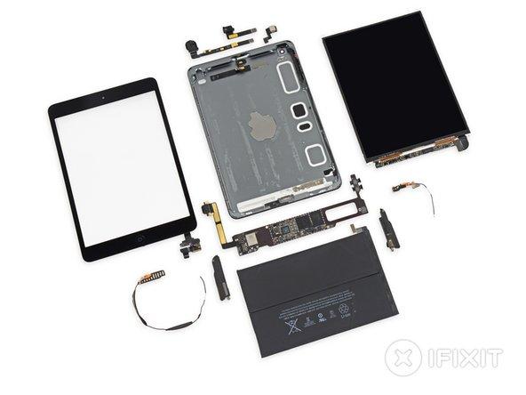 iPad Mini Retina Display Repairability: 2 out of 10 (10 is easiest to repair).