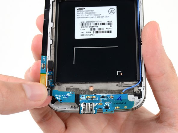 Remove the USB board from the display assembly.