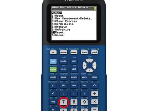 """You can also push the """"7"""" key on your calculator"""