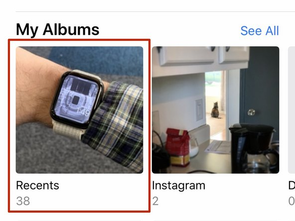 """To begin, open the Photos app on your iPhone and select the """"Recents"""" albums."""