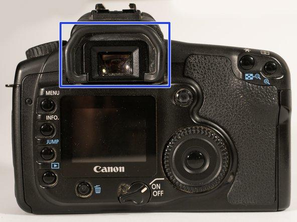 Remplacement du capuchon de l'oculaire du viseur Canon EOS 20D