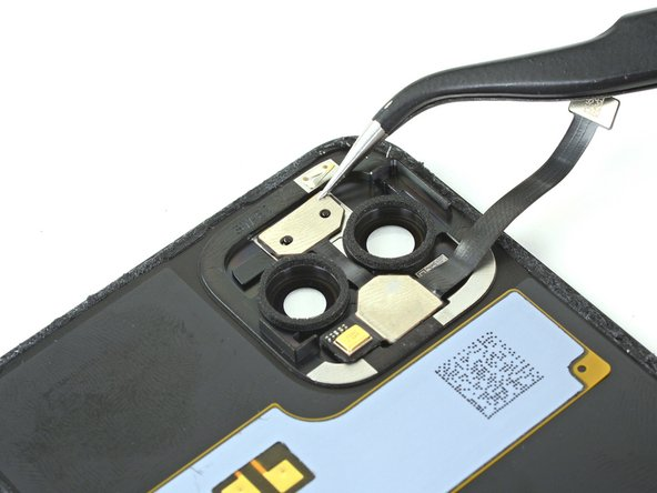 All sections of the flash module are secured to the back panel with some light adhesive.