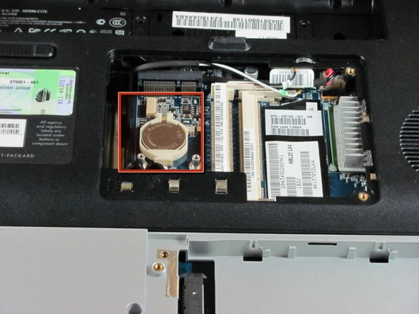 HP Pavilion dv5000 RTC Battery Replacement