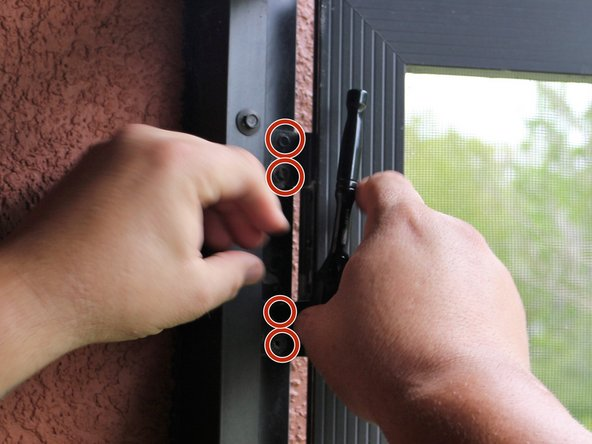 How to replace the screen on a patio door.