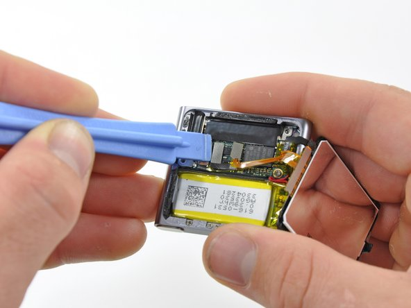 The display can be removed after detaching the digitizer and display data cable connectors.