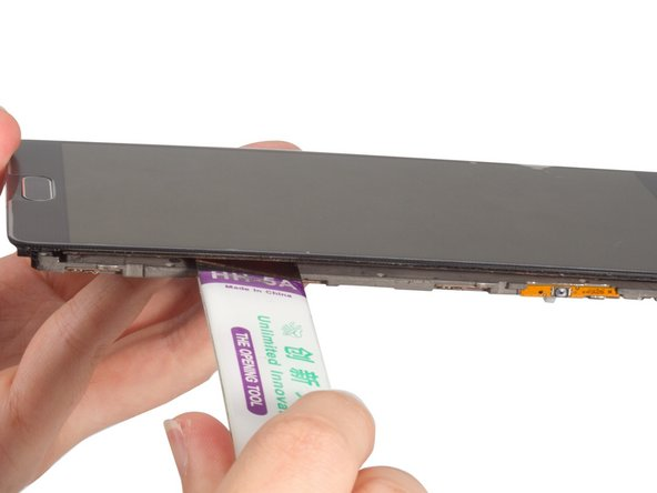 Cut the adhesive under the screen, release the connectors and remove the LCD screen. You can see more details when remove the LCD screen at Samsung Galaxy Note 4 LCD screen replacement guide.
