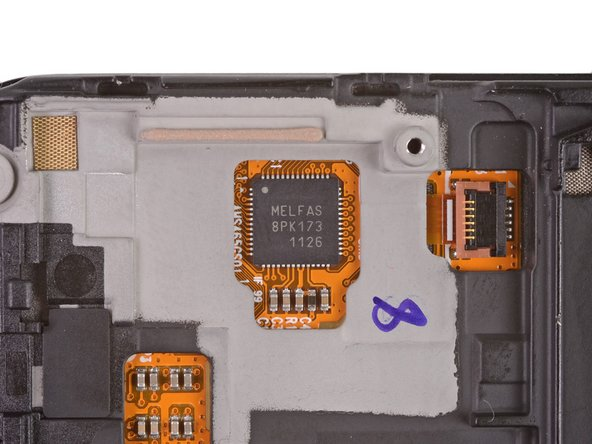 """A Melfas 8PK173 1126 Touch Screen Controller allows users to control the Galaxy Nexus with """"...fun, consistent gestures."""""""