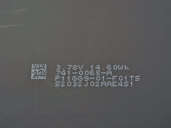 Each separate cell lists its rating of 3.78 volts and 14.60 watt-hour. They're graced with some more matrix barcode tags and wonderful inscriptions that read 741-0065-A P11GG9-01-F01TS. Swoon.
