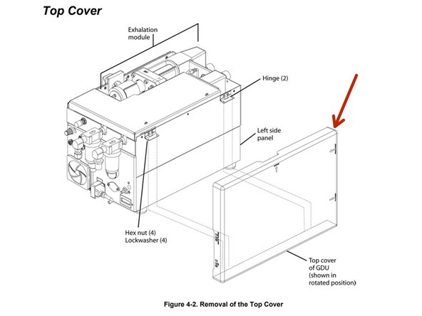 Place device so that the top cover is facing you.