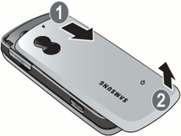 Disassembling Samsung Gravity SGH-T459  Back Cover