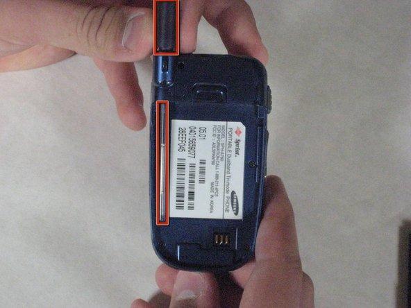 Démontage de l'antenne du Samsung SPH-A760