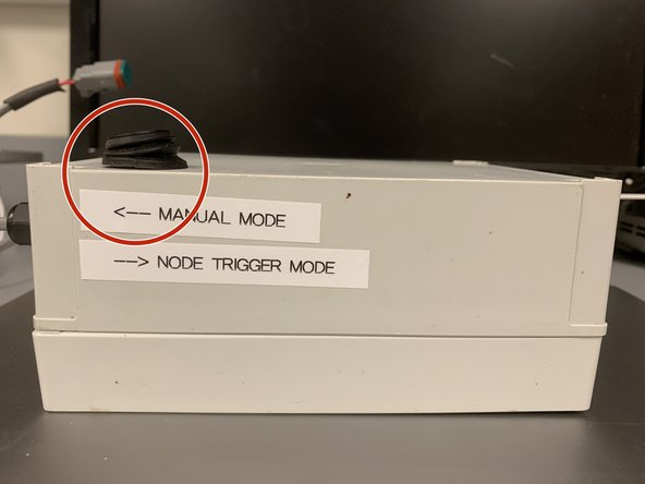 """To enable manual mode, flip the switch to """"Manual Mode"""""""