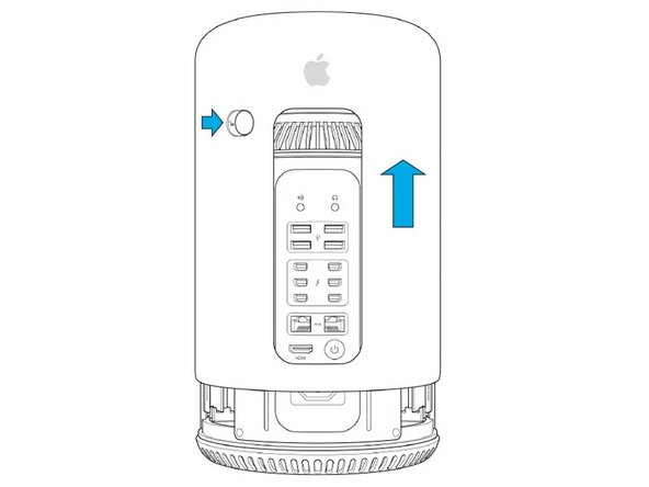 Mac Pro Late 2013 Enclosure Latch Replacement for Cable Lock
