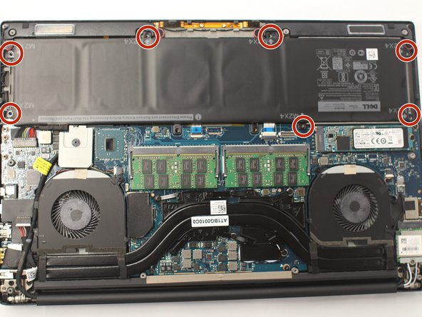 Using a Philips #00 Screwdriver, remove the seven 3 mm long screws from the perimeter of the battery.