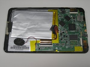 Battery, Motherboard, Speaker, and Antenna