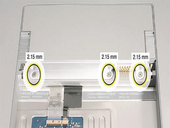 Remove the three screws from the memory door