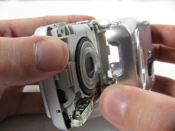Removing Olympus FE-210 Front Casing