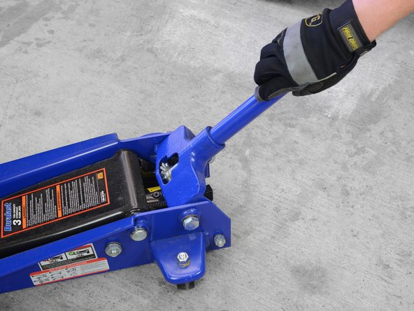 Grab your floor jack and make sure the pressure relief valve is closed. (Usually, you close the valve by twisting the jack lever clockwise.)