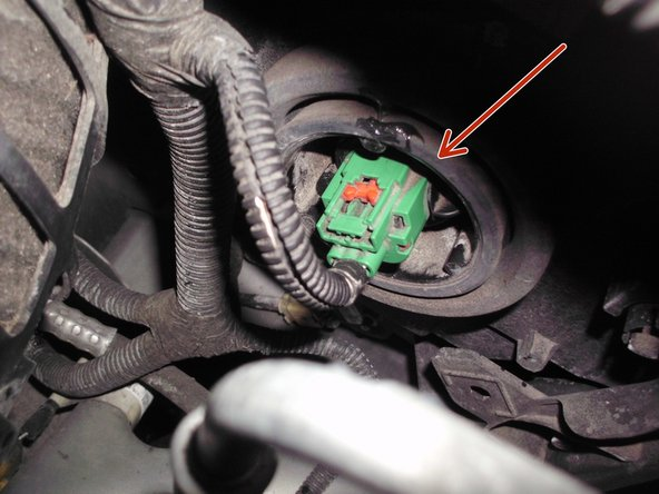 Identify the bulb socket, located behind the headlight.