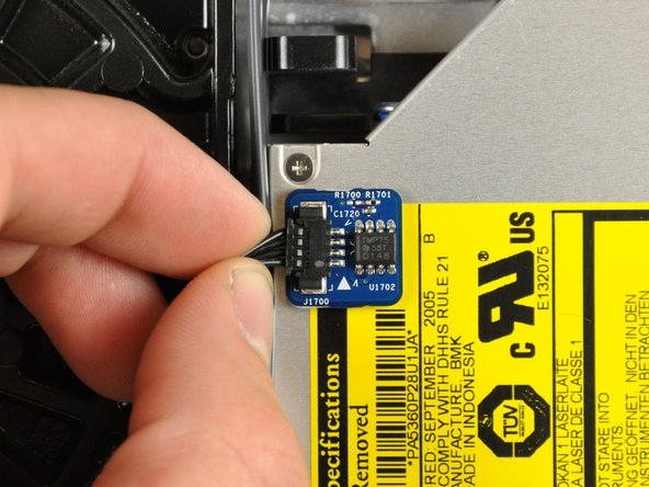 Disconnect the optical drive thermal sensor.
