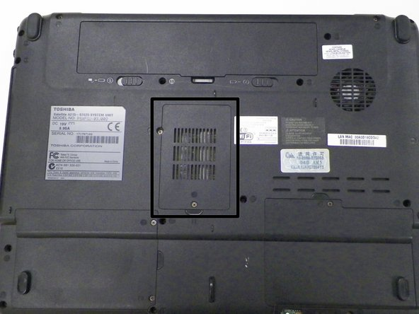 Locate the RAM vented plastic cover in the center of the device.